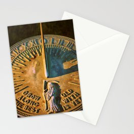Old Father Time Sundial Stationery Cards