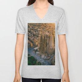 Scale of Sagrada Familia Unisex V-Neck
