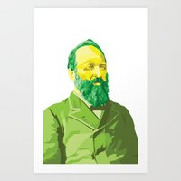 garfield Art Prints featuring James Garfield by kablab