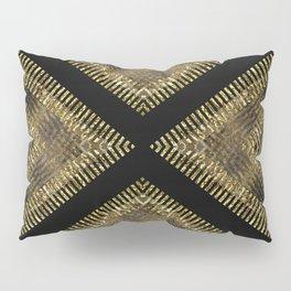 Black Gold | Tribal Geometric Pillow Sham
