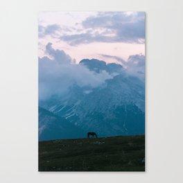 Mountain Sunset Horse - Landscape Wildlife Photography Canvas Print