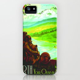 Vintage poster - Earth iPhone Case