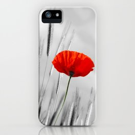 Poppy Red 070 iPhone Case