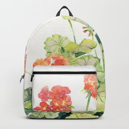 Geranium Watercolor  Backpack