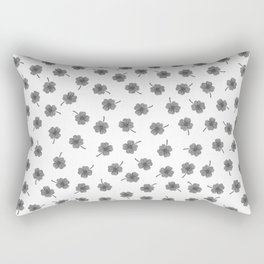 Light Gray Clover Rectangular Pillow