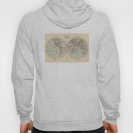 Vintage Map of The World (1873) Hoody