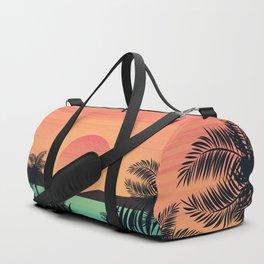 Tropical Beach Dawn illustration Duffle Bag