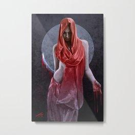 Red Cultist Metal Print