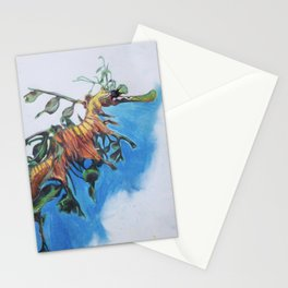 Study of a Leafy Water Dragon Stationery Cards