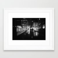 new york city Framed Art Prints featuring New York City Noir by Vivienne Gucwa