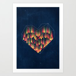 Interstellar Heart II Art Print
