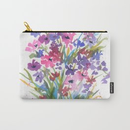 Lavender Mini Fleurs Carry-All Pouch