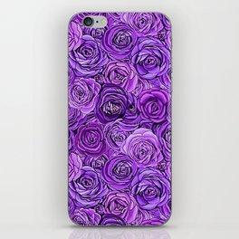 valentines roses in purple / ultraviolet iPhone Skin