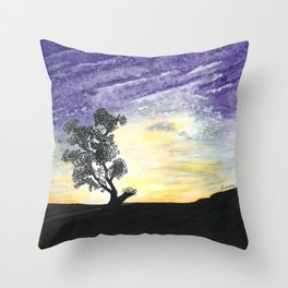 Lone Tree Throw Pillow