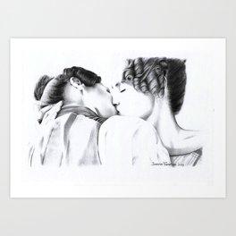 gj kiss 2 Art Print