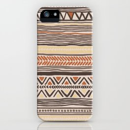 Hand-Drawn Ethnic Pattern iPhone Case