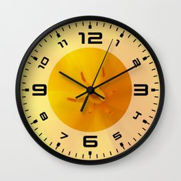 Yellow tulip close up Wall Clock
