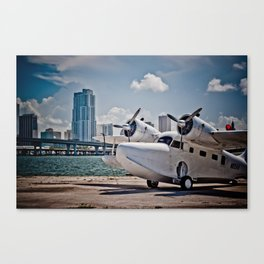 Downtown Miami Seaplane Canvas Print