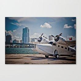 Downtown Miami Seaplane Canvas Print