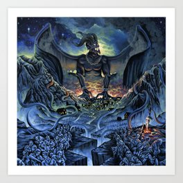 Typhon Monster Art Print