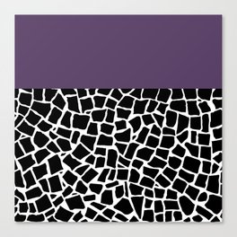 British Mosaic Purple Boarder Canvas Print