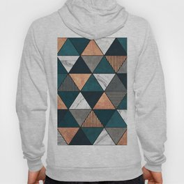 Copper, Marble and Concrete Triangles 2 with Blue Hoody