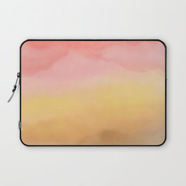 Boho pink brown ombre watercolor desert abstract paint Laptop Sleeve