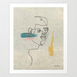 Staring Art Print