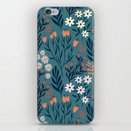 Beautiful Springtime Garden Daisy And Tulip Pattern iPhone Skin