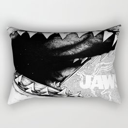 Jaws. Alternate version. Rectangular Pillow