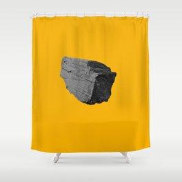 Yellow Boulder Shower Curtain