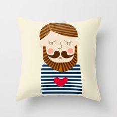 Bearded Sailor Lover Throw Pillow