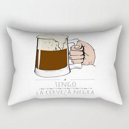 beer beer beeeeeeer & 'la camisa negra' Rectangular Pillow