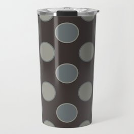 Oatmeal Stout Retro Polka Dot Print Seamless Pattern Travel Mug