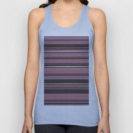 Pink and Brown Striped Pattern Unisex Tank Top