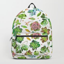 Colored pencil succulents Backpack