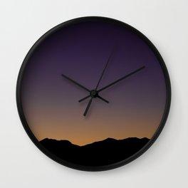 Gloaming Gradient Wall Clock