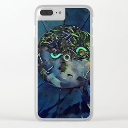 Moon Bug Glow in a Bucket by CheyAnne Sexton Clear iPhone Case