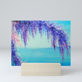 Wisteria by the sea Mini Art Print