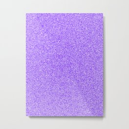 Melange - White and Indigo Violet Metal Print