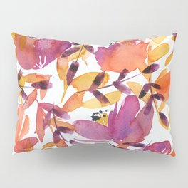 floral pattern: pink and orange Pillow Sham