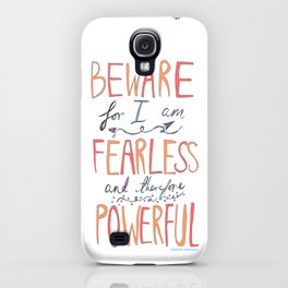 BEWARE, FEARLESS, POWERFUL: FRANKENSTEIN by MARY SHELLEY iPhone Case