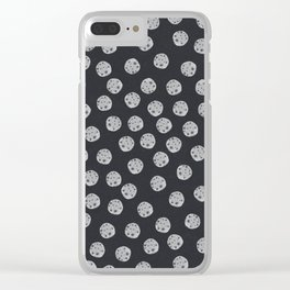Moon Pattern Clear iPhone Case