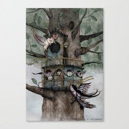 '恐怖核心與小鳥 Scarecore and Bird' Cover Illustration Canvas Print