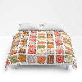 Breakfast Toast Comforters