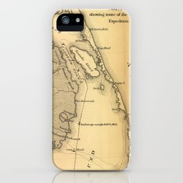 Vintage Map of The Outer Banks (1862) iPhone Case