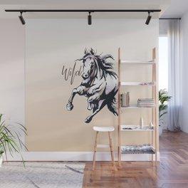 Wild horse watercolour Wall Mural