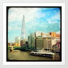 The Shard and The Thames - London Art Print