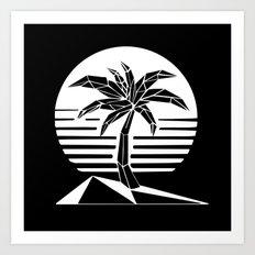 New Retro Palm Art Print