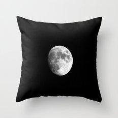 Waxing Gibbous Moon Throw Pillow